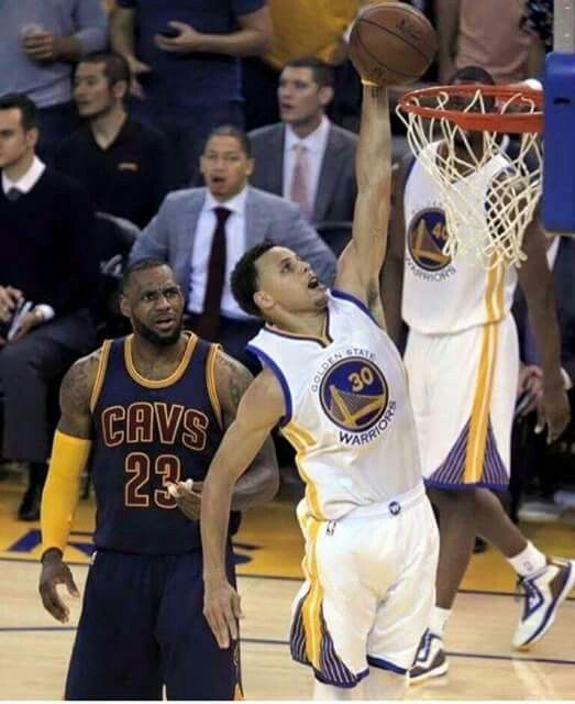 Stephen Curry... ( and just look at LeBron\u0027s face)