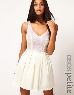 Enlarge ASOS PETITE Prom Dress With Sequin Top