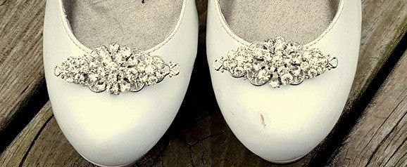 Wedding Shoe Clips, Vintage Style Shoe Clips, Bridal Shoe Clips, Swarovski Rhinestone Shoe Clips, Shoe CLips for Bridal Shoes, Wedding Shoes by ShoeClipsOnly on Etsy