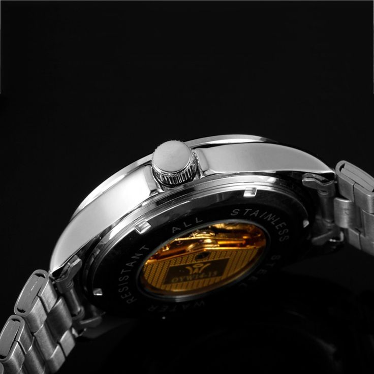 Brand OUYAWEI 1415 Mens Half Cut out Mechanical Wrist Watches with Stainless Steel Strap Fashion Mens Watches Relogio Masculino-in Mechanical Watches from Watches on Aliexpress.com | Alibaba Group