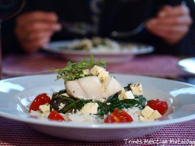 Ovnsbakt torsk med spinat, fetaost og cherrytomater | TRINEs MATbloggTRINEs MATblogg
