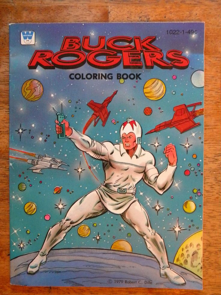 1979 Buck Rogers Coloring Book Vintage Whitman Action Hero Unused Cool Figure