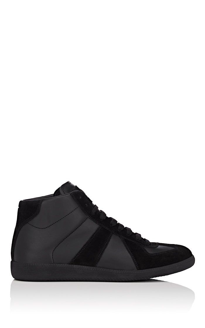 8abb8ad0436 Maison Margiela Men's Replica Leather & Suede Sneakers - Black | My ...