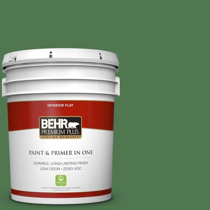 BEHR Premium Plus 5 gal. #450D-7 Torrey Pine Zero VOC Flat Interior Paint
