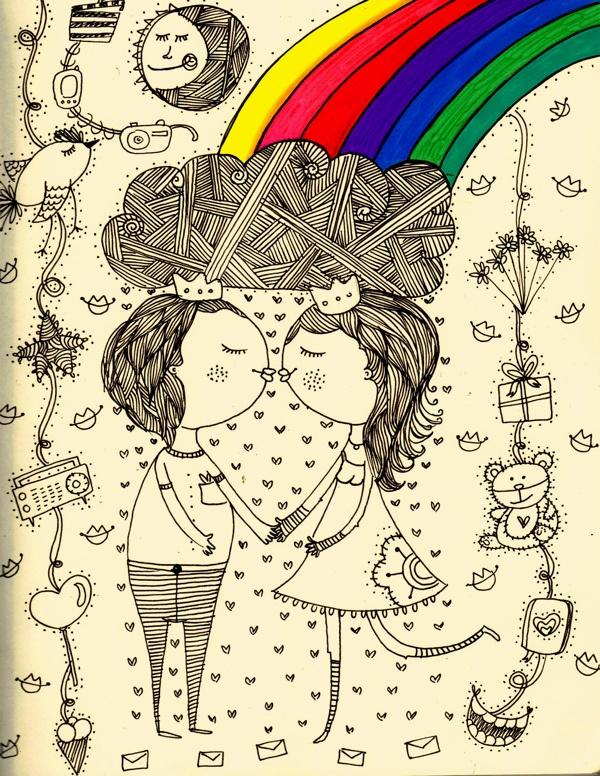 Pareja ♥  SOLO cierra los ojos. No veas, y sueros Mágico. Andy Warhol