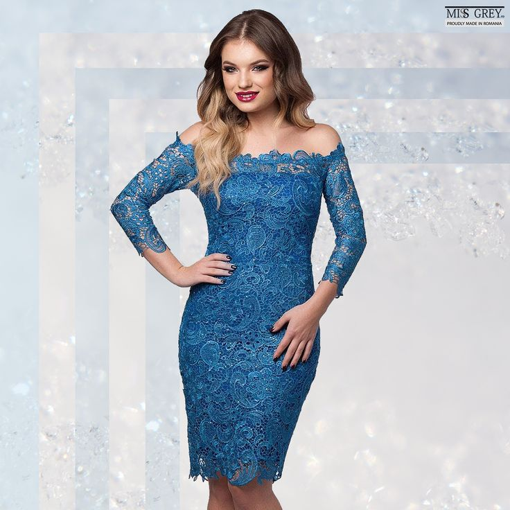 Do you want to impress at the special events of the spring? Wear a lace dress with naked shoulders in a vibrant blue shade! Discover the Zaira blue dress in our online shop!