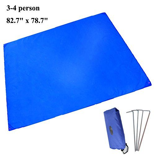 JTENG Outdoor Waterproof Camping Shelter Tent Tarp Footprint Groundsheet Blanket Beach Picnic Blanket Mat -- Read more at the image link.