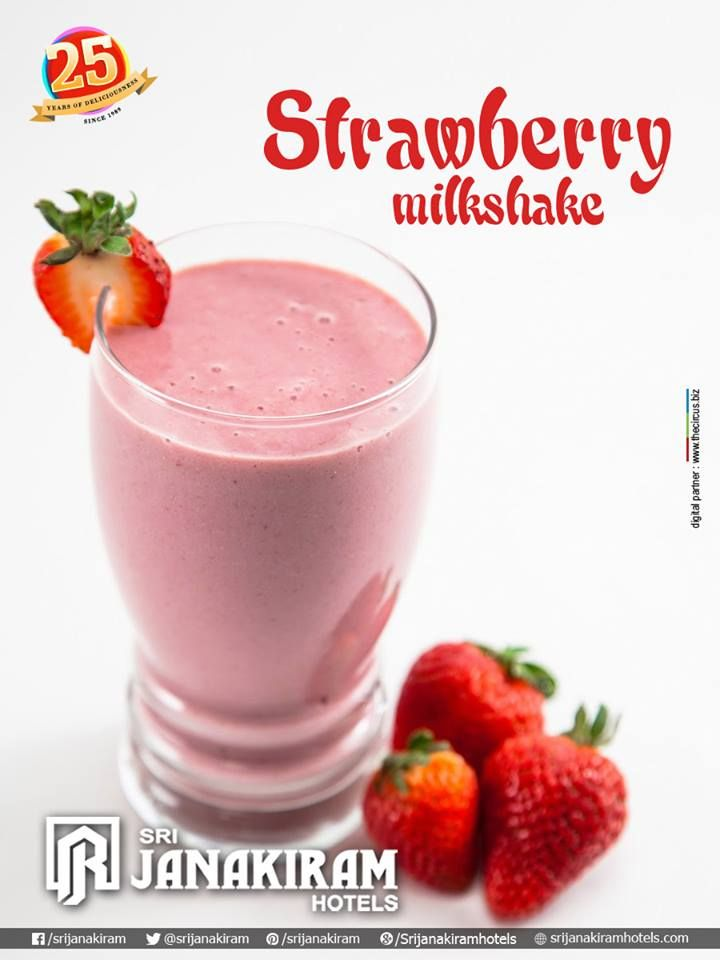 """#StrawberryMilkShake Made with fresh strawberries and blended with milk, sugar and ice. """"Tastes yummy and delicious!"""""""