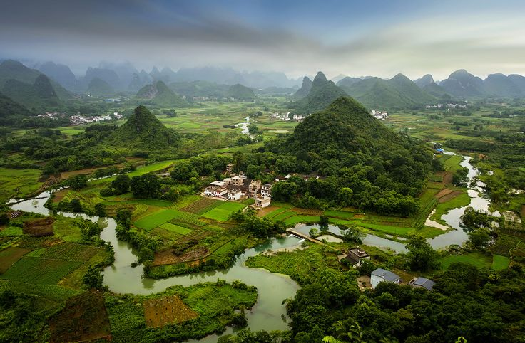 Whuzi hill  landscape of Guilin,Yangshuo County, Guangxi Province, China