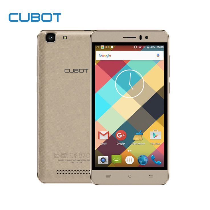 Rainbow mtk6580 quad core desbloqueado cubot smartphone android 6.0 2200 mah teléfono celular de 5.0 pulgadas 1 gb ram 16 gb rom del teléfono móvil