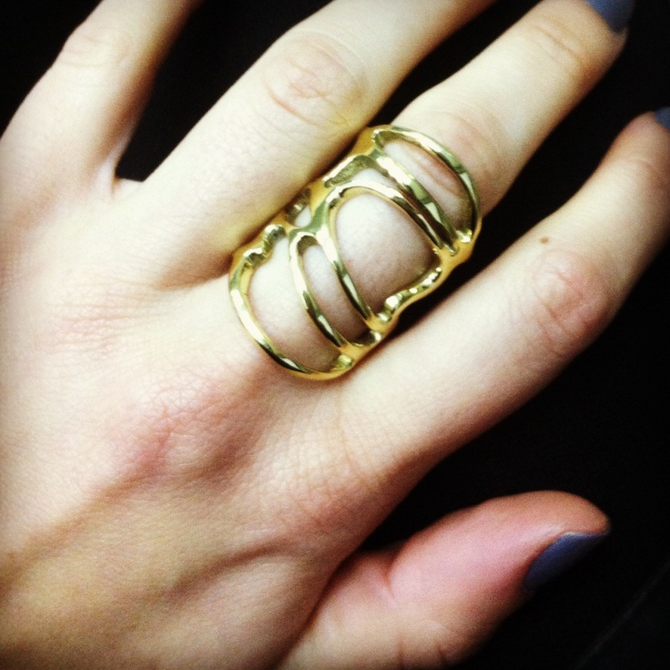 Line collection 3! Brass ring oversize!! By B-Tal Jewellery !!