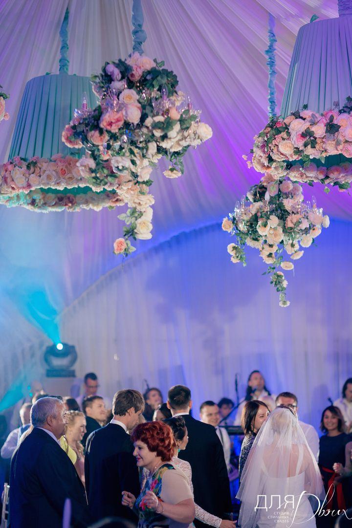 декоративные абажуры в свадебном шатре