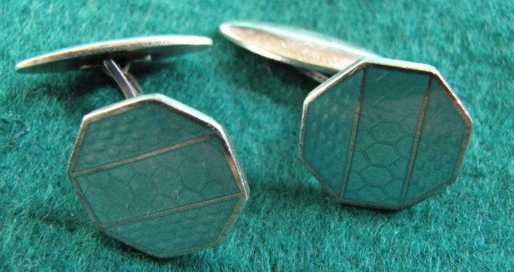 Silver 916 ТФ6 Vintage Men's Cufflinks Russia 1956 TALLIN Estonia No Stone #6