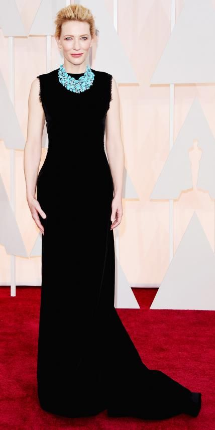 Academy Awards 2015 Red Carpet Arrivals - Cate Blanchett in Maison Martin Margiela from #InStyle #Oscars