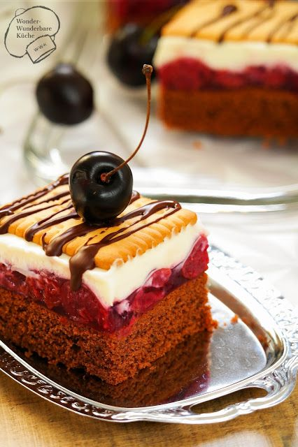 Wonder Wunderbare Küche: Kirsch-Butterkeks-Kuchen