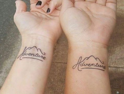 Pin for Later: 16 Travel Tattoos For Best Friends With Wanderlust Adventure   – Tattoos – #adventure #Friends #pin #Tattoos #Travel