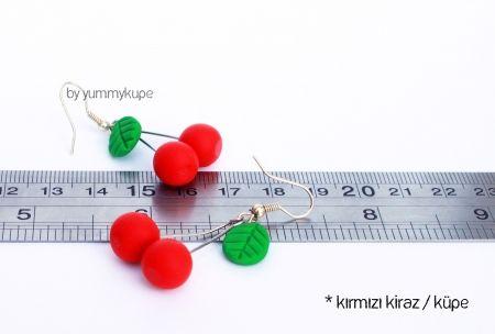 Kırmızı Kiraz / küpe   #fashion #design #miniature #food #art #miniaturefoodart #polymerclay #clay #minyatur #polimerkil #kil #nutella #tasarim #taki #sanat #moda #sokak #tutorial #yummykupe #mold #kalip #nasil #bileklik #kolye #kupe #yuzuk #aksesuar #kadin #ring #earring #accesorie #necklace #red #cherry #redcherry