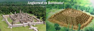 Angkorwat kamboja vs Borobudur Indonesia