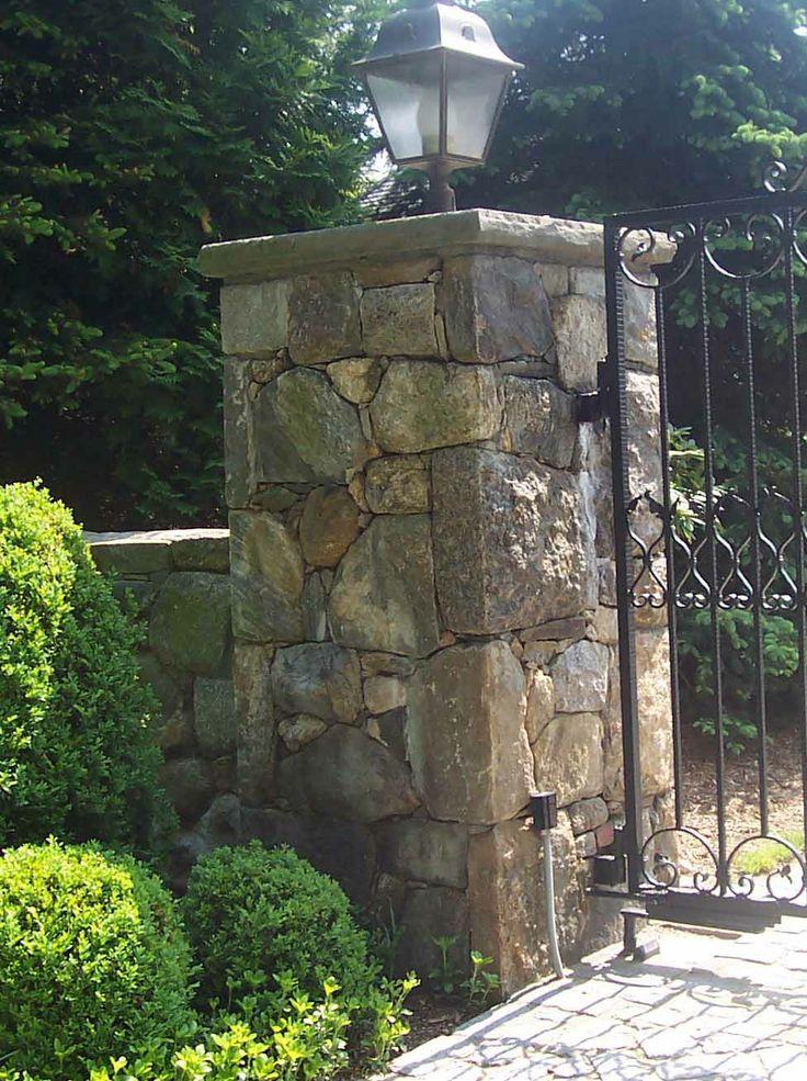 1000 Ideas About Stone Pillars On Pinterest Driveway