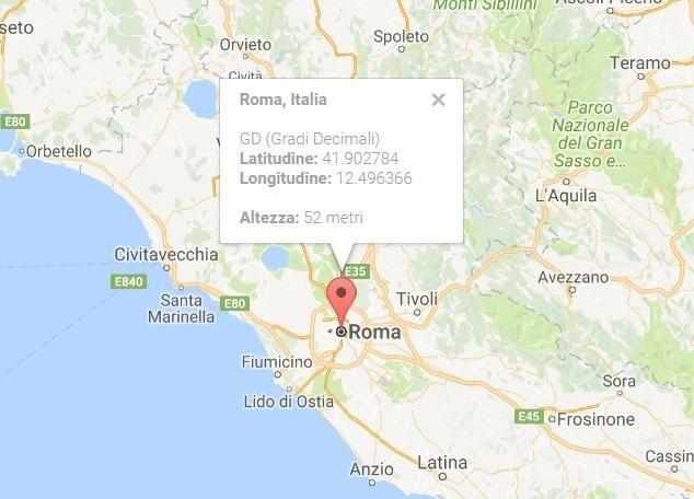 Scopri le coordinate geografiche di latitudine e la longitudine GPS di un luogo sulla mappa di Google http://coordinate-gps.info/