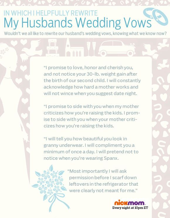 writing funny wedding vows Writing your own personalized wedding vows can be a daunting task, but it's not quite as hard as it looks here's some guidance to create your own vows.