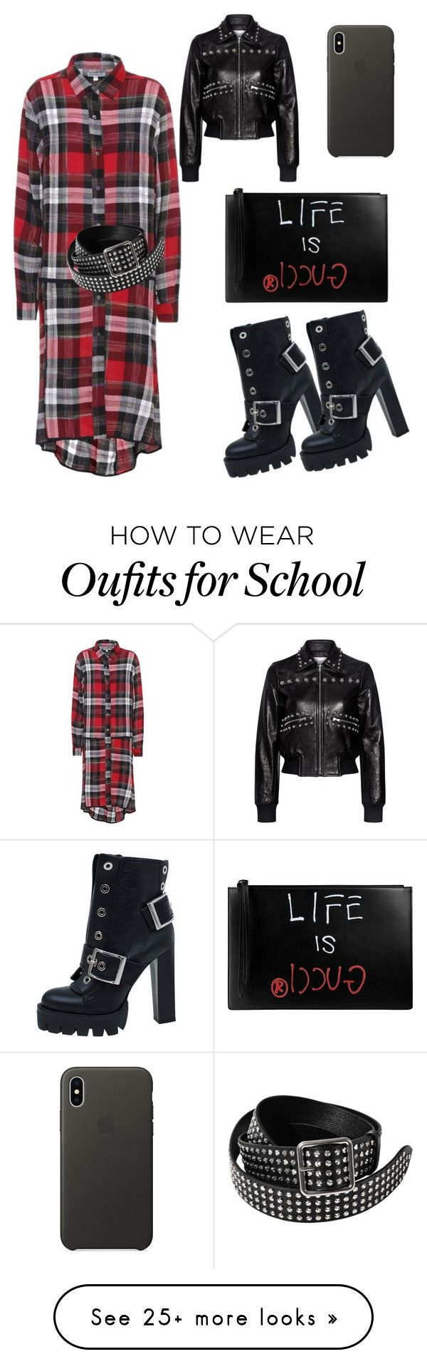 """""""Untitled #2370"""" by twil24 on Polyvore featuring Public School, Alexander McQueen, Gucci, RED Valentino and Apple"""