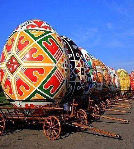 Easter eggs festival in Lviv, Ukraine