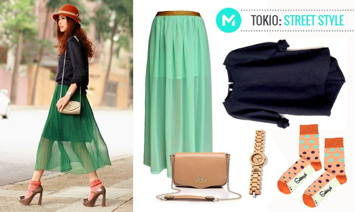 Fashion from the world: Tokio street style #fashion #japanstyle #skirt #socks