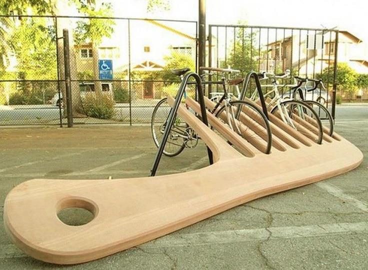 goed idee als fietsenstalling voor de kapper.