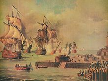 Colombia - Wikipedia, the free encyclopedia. Attaqck of the British army commanded by Admiral Edward Vernon on Cartagena de Indias.  the battle resulted in a major defeat for the British Navy and Army during the War of Jenkins' Ear, 1739-1748...