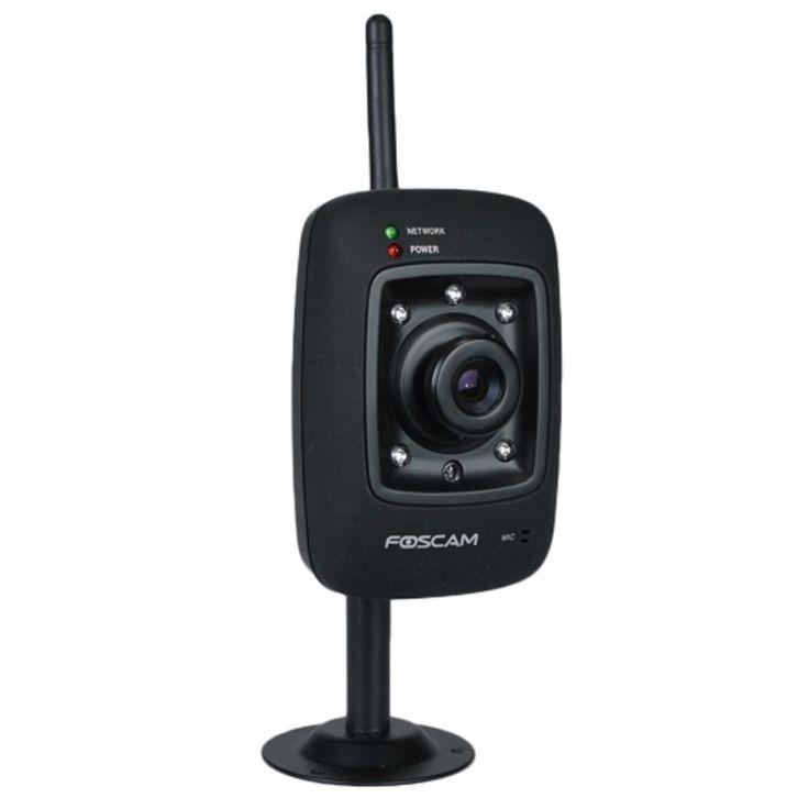 Foscam FI8909W Wireless/Wired IP Network Camera w/5 IR LEDs & Smartphone Access (Black)
