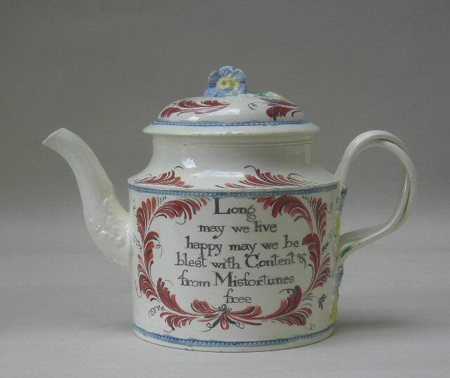Creamware teapot height 51 2 probably leeds for Vajillas porcelana clasicas