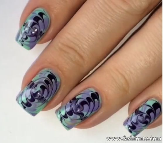 Nail Polish Techniques With Water To Bend Light