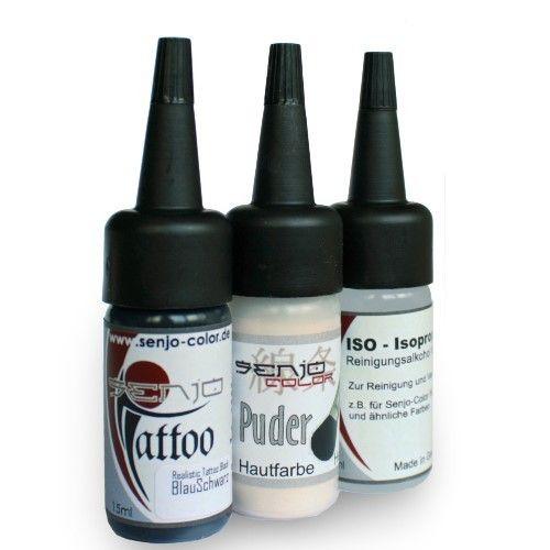 #SenjoColor #Tattoo Kit - Farbe, Puder, Verdünner