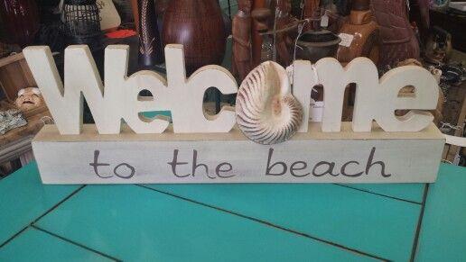 Welcome to the beach sign   Beach Decor   Pinterest