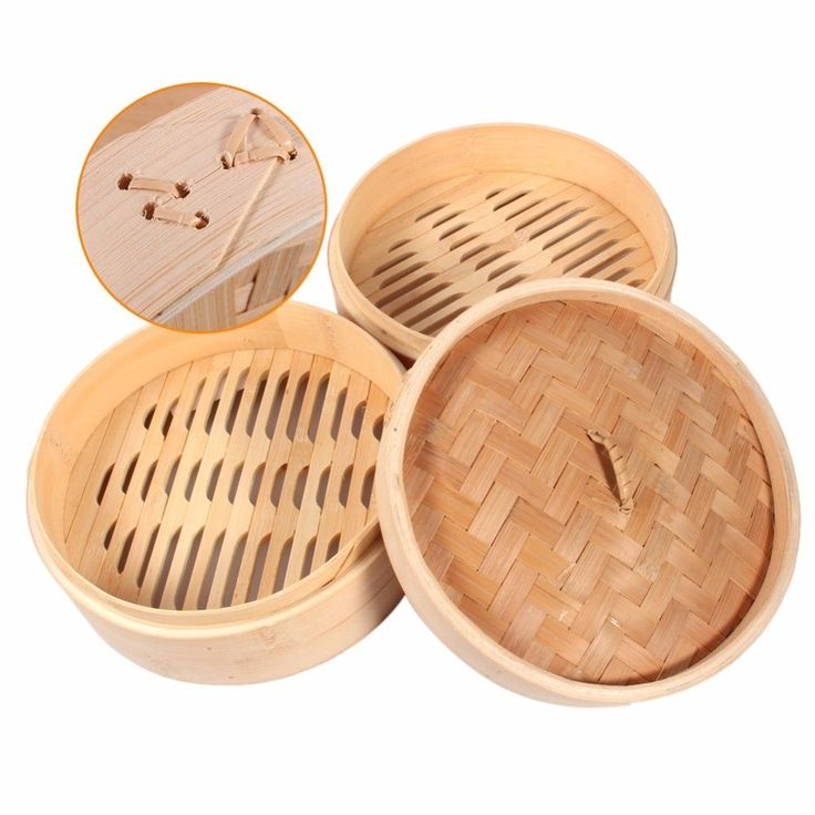 Basket Rice Bamboo Steamer Chinese Traditional Kitchen Pasta Cookware Tools New #Unbranded