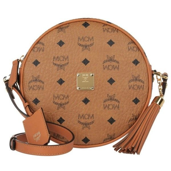 MCM Shoulder Bag - Heritage Tambourine Crossbody Bag Medium Cognac -... (43.775 RUB) ❤ liked on Polyvore featuring bags, handbags, shoulder bags, brown, mcm, mcm purse and mcm handbags