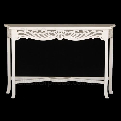 Hall Table White, W120x D26x H76cm, Narrow Table, Entrance Table, Occassional.