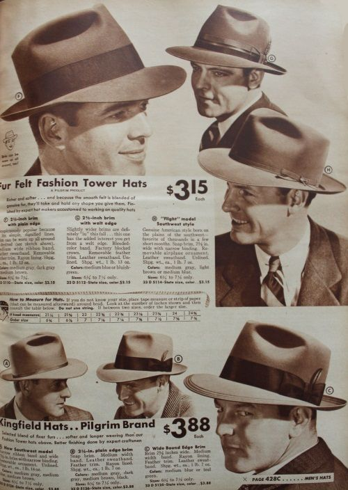 a59151bf4a54a 1940s Men's Hats: Vintage Styles, History, Buying Guide | Hats ...
