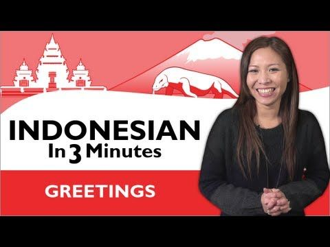 Learn Indonesian - Indonesian in Three Minutes - How to Introduce Yourself in Indonesian - YouTube
