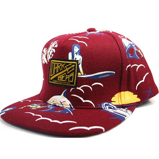Loser Machine Dark Seas Drifter Snapback (Brick Red) $30.95