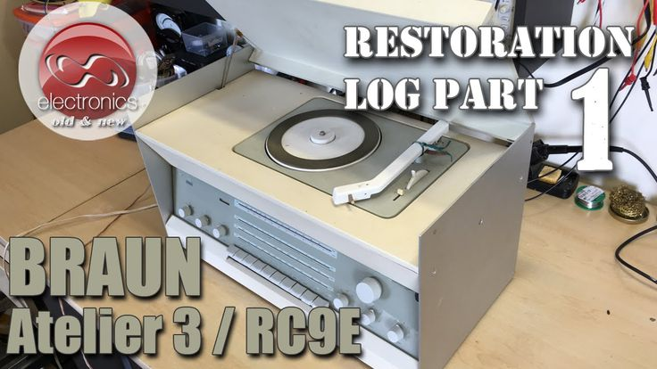 Braun Atelier 3 Stereo (RC 9E) restoration. A Dieter Rams classic back to full working order.