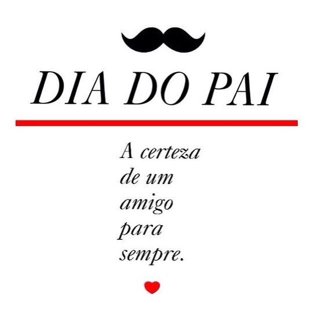happy fathers day! Feliz dia do pai