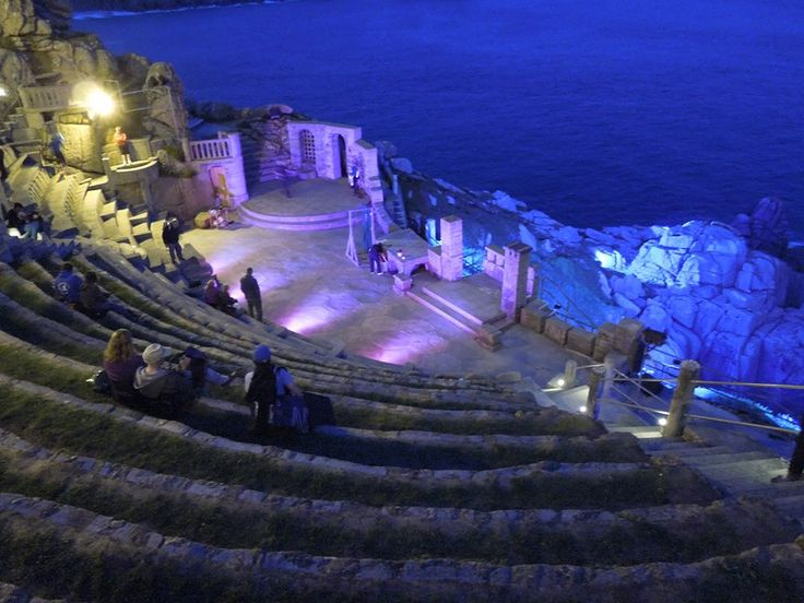 #Minack #Theatre in West #Cornwall in the evening.