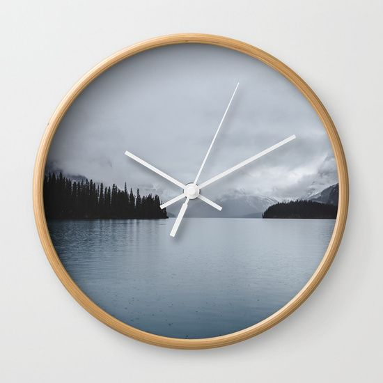 Landscape Lake Mirror Wall Clock by Wildhood. Worldwide shipping available at Society6.com. Just one of millions of high quality products available.