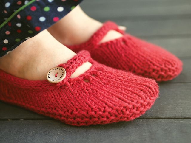knit socks slippers
