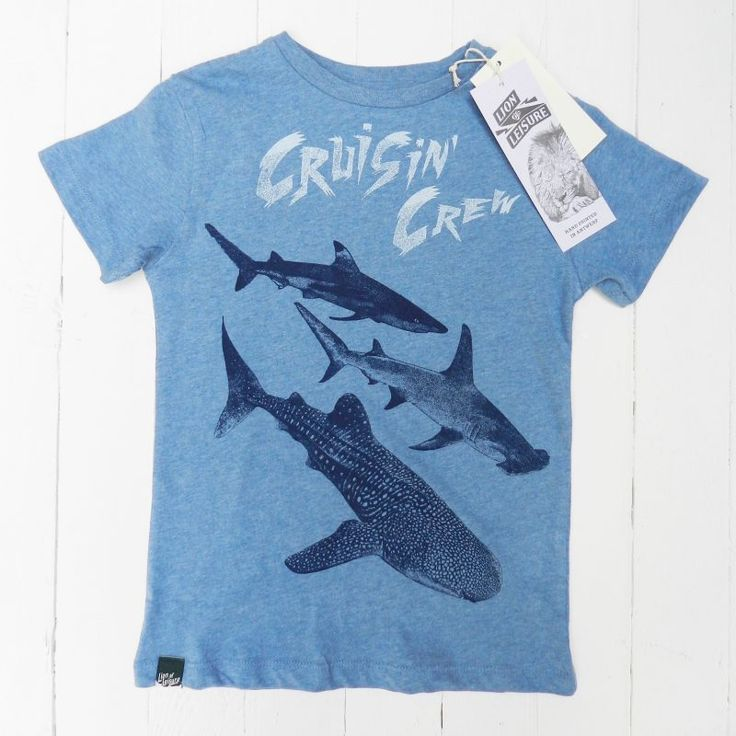 Lion of Leisure Organic Cool Cruisin' Crew Shark T-Shirt