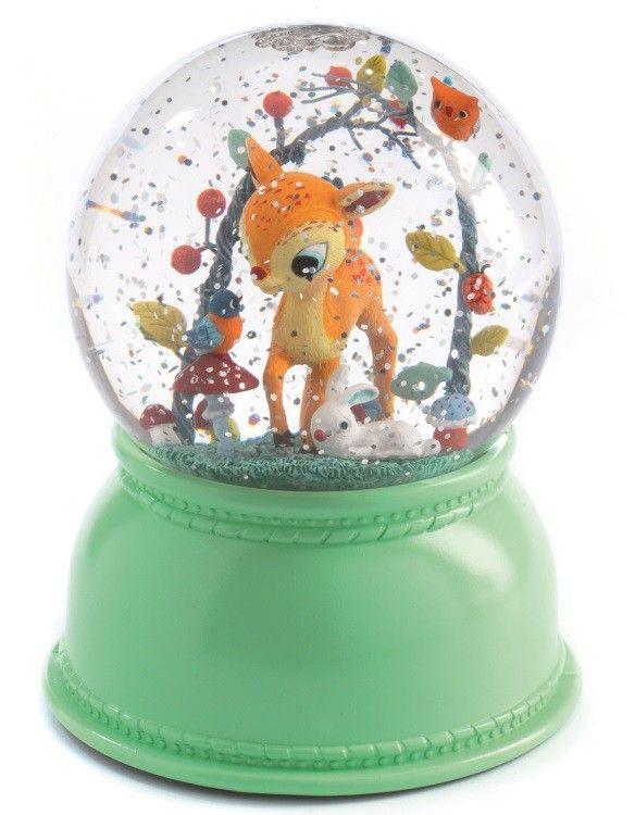 <p>Dit is een lamp die je als klein meisje zelf ook had gewenst of misschien nog wel zou willen. <br />Het magische van een sneeuwbol gecombineerd met een nachtlamp die van kleur wisselt en na 2 uur vanzelf uitgaat. Schudden is niet nodig, als je de lamp aanzet gaan de sneeuwvlokken vanzelf bewegen. Deze betoverende lamp verdient een prachtige plek op de kinderkamer.<br /><br />De lamp lijkt van glas maar is van een zeer hoogwaardig plastic gemaakt. De lamp weegt bijna 500 gram en werkt ...