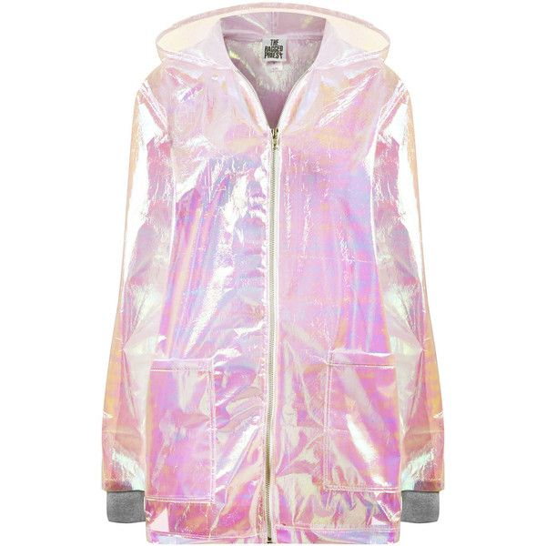 **Pink Splash Anorak by The Ragged Priest ($91) ❤ liked on Polyvore featuring outerwear, jackets, coats, tops, pink, pink jacket, anorak jackets, pink anorak and pink anorak jacket