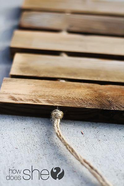 Make your own wood plank door mat